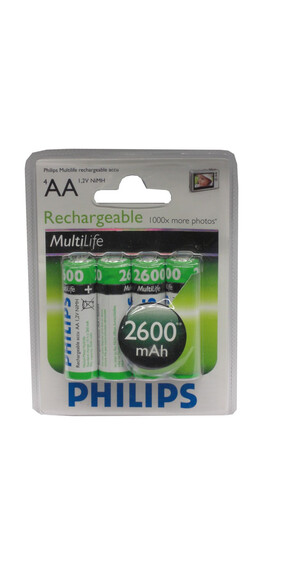 PHILIPS Mignon Akku Batterie 4er Set